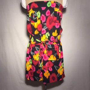 Derek Heart Strapless Floral Dress